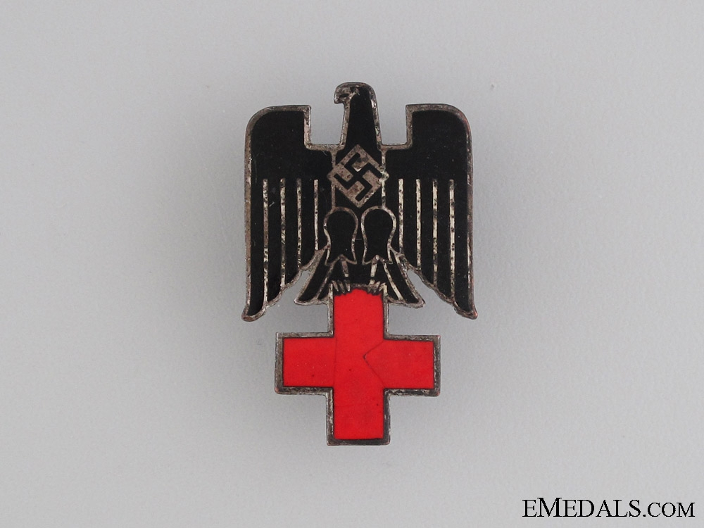 eMedals-Red Cross Cap Insignia Red