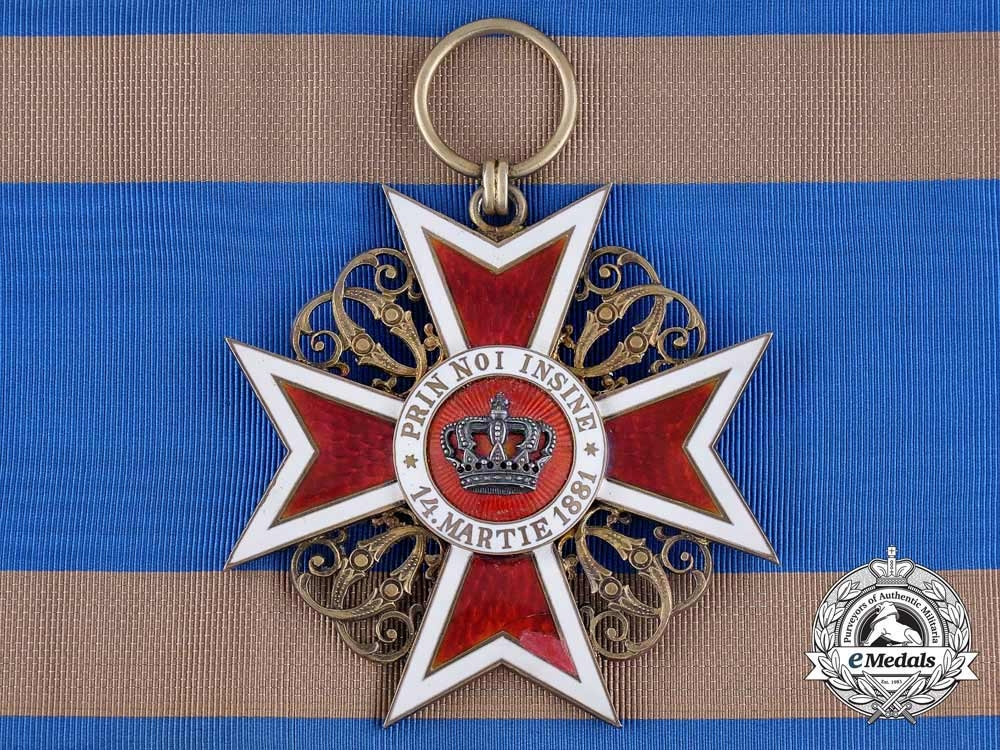 eMedals-A 1910 Romanian Order of the Crown; Grand Cross, Type I