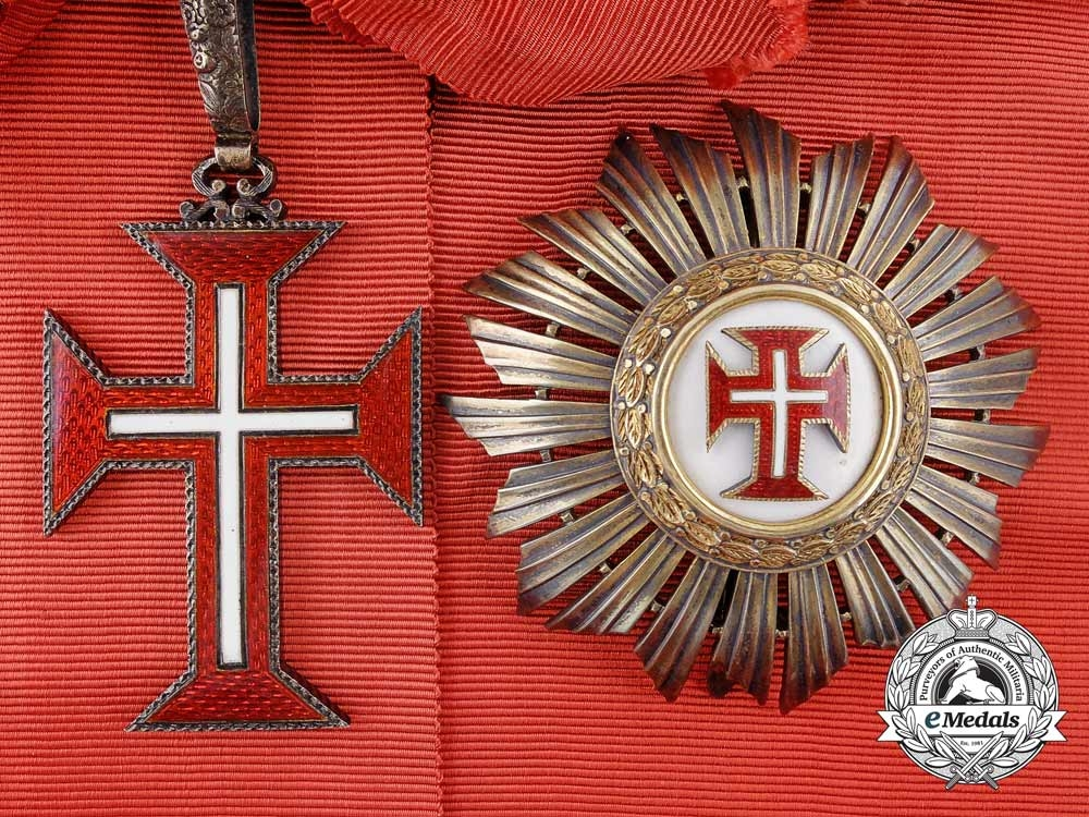 eMedals-A Portuguese Military Order of the Christ; Grand Cross Set