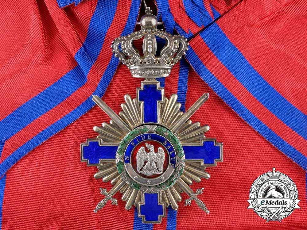 eMedals-An Order of the Romanian Star with Swords; Grand Cross Badge 1877-1932