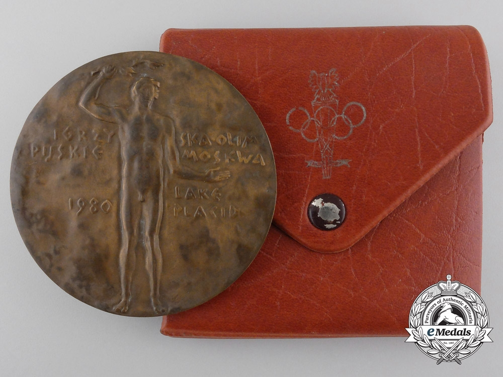 eMedals-A 1980 Polish Olympic Committee Participant's Medal