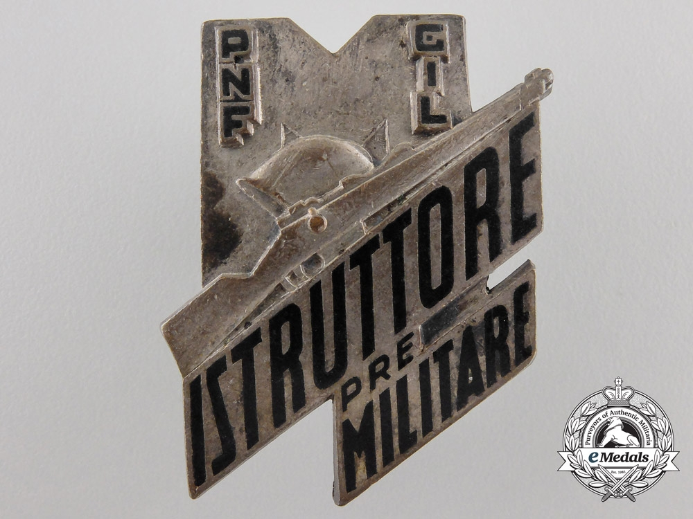 eMedals-An Italian Fascist Youth Military Instructors Badge