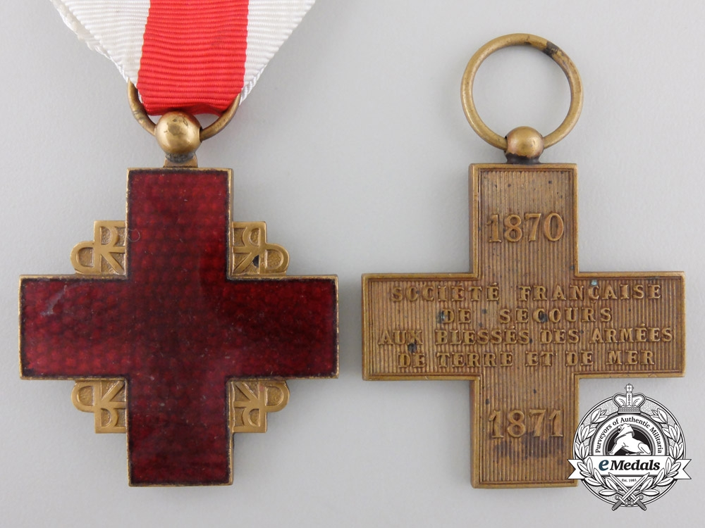 eMedals-Two French Red Cross Medals
