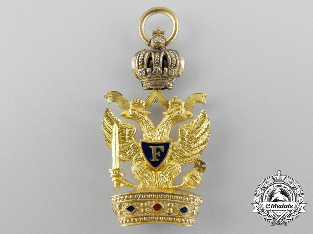 eMedals-A Scarce Napoleonic Austrian Order of the Iron Crown c.1815, Miniature