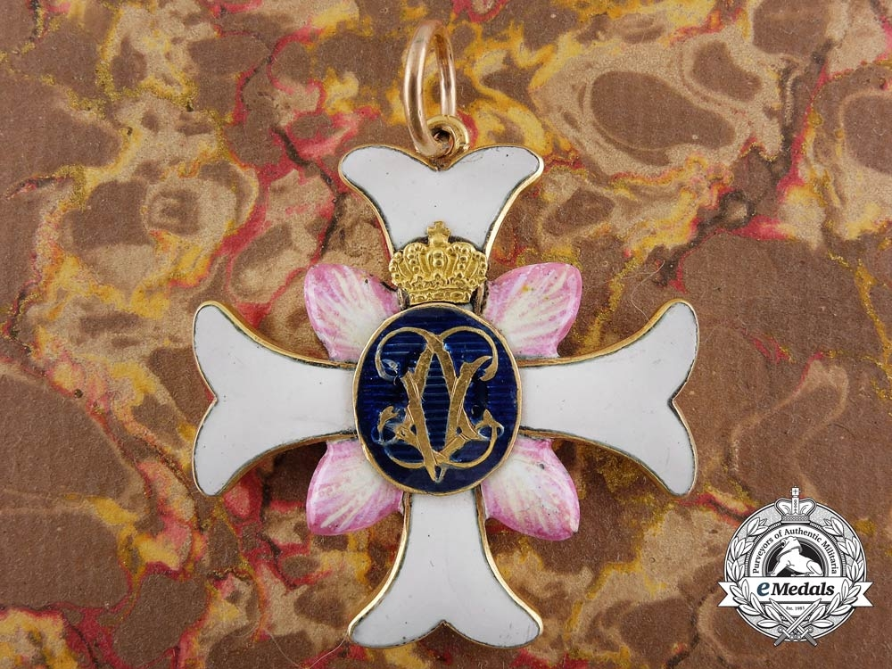 eMedals-A Rare Swedish Order of Vadstena Adliga; Ladies cross