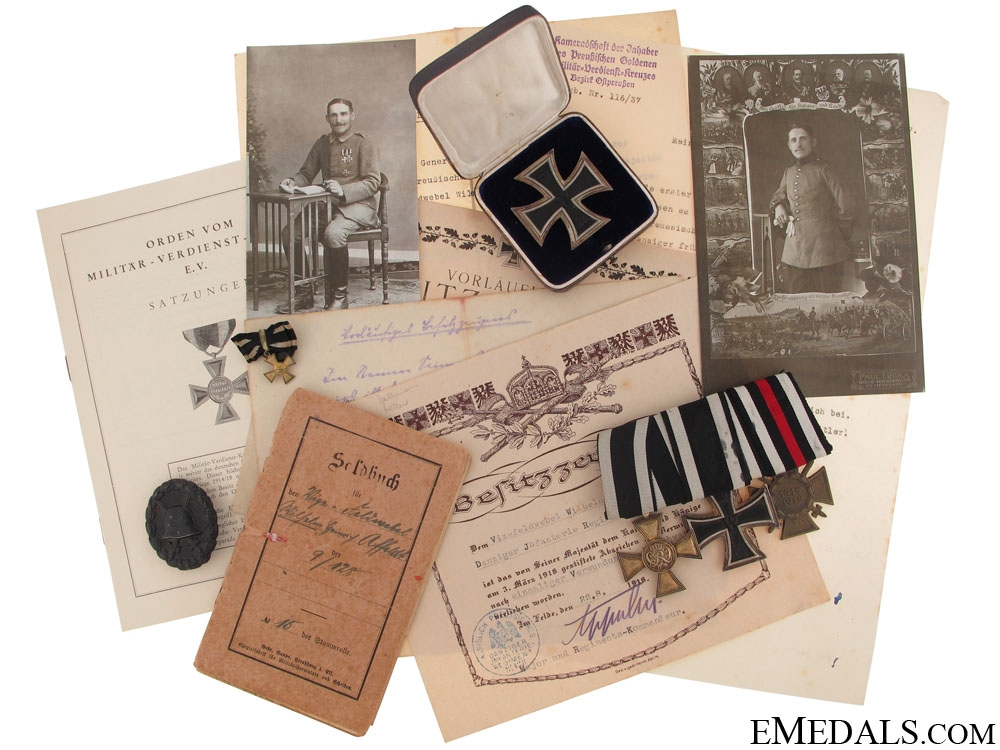 eMedals-Scarce Prussian Golden Military Merit Cross Group
