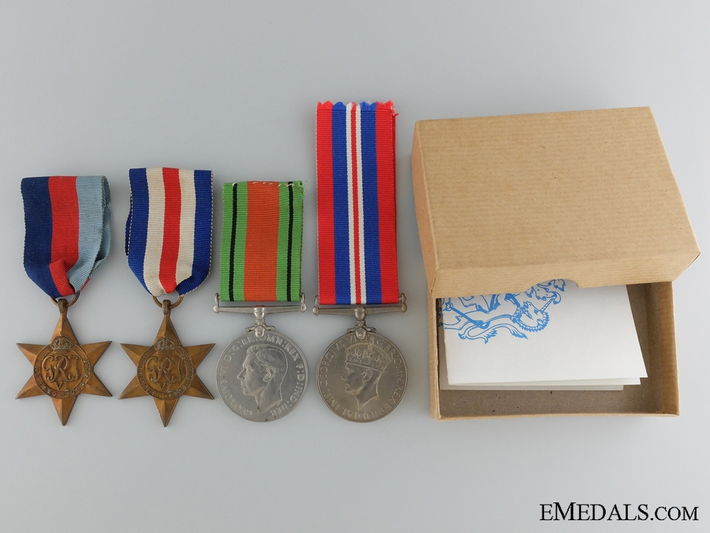 eMedals-Second War British Group of Four