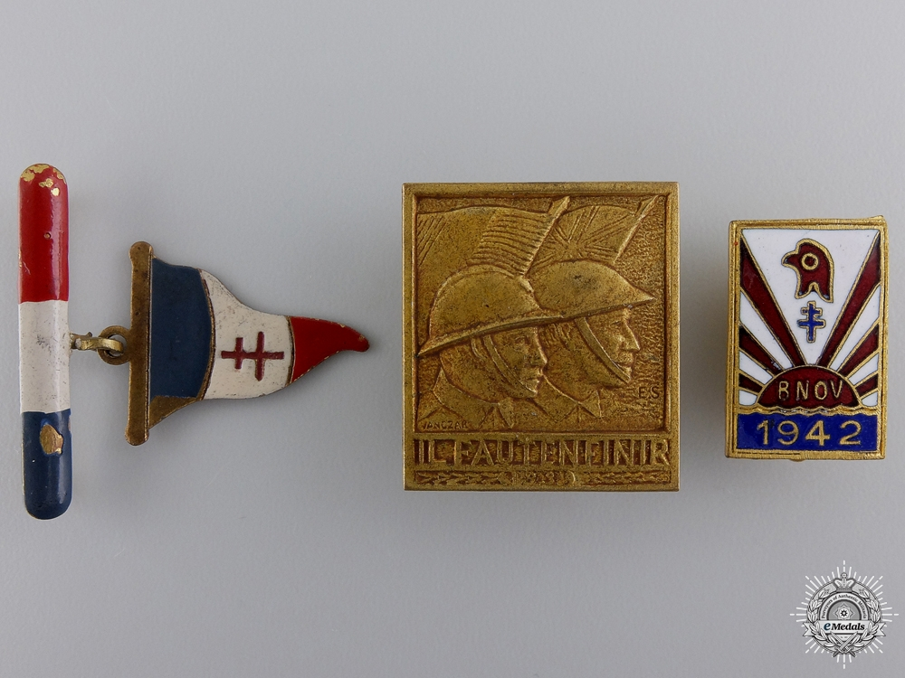 eMedals-A Lot of Second War FFI Free French Resistance Badges