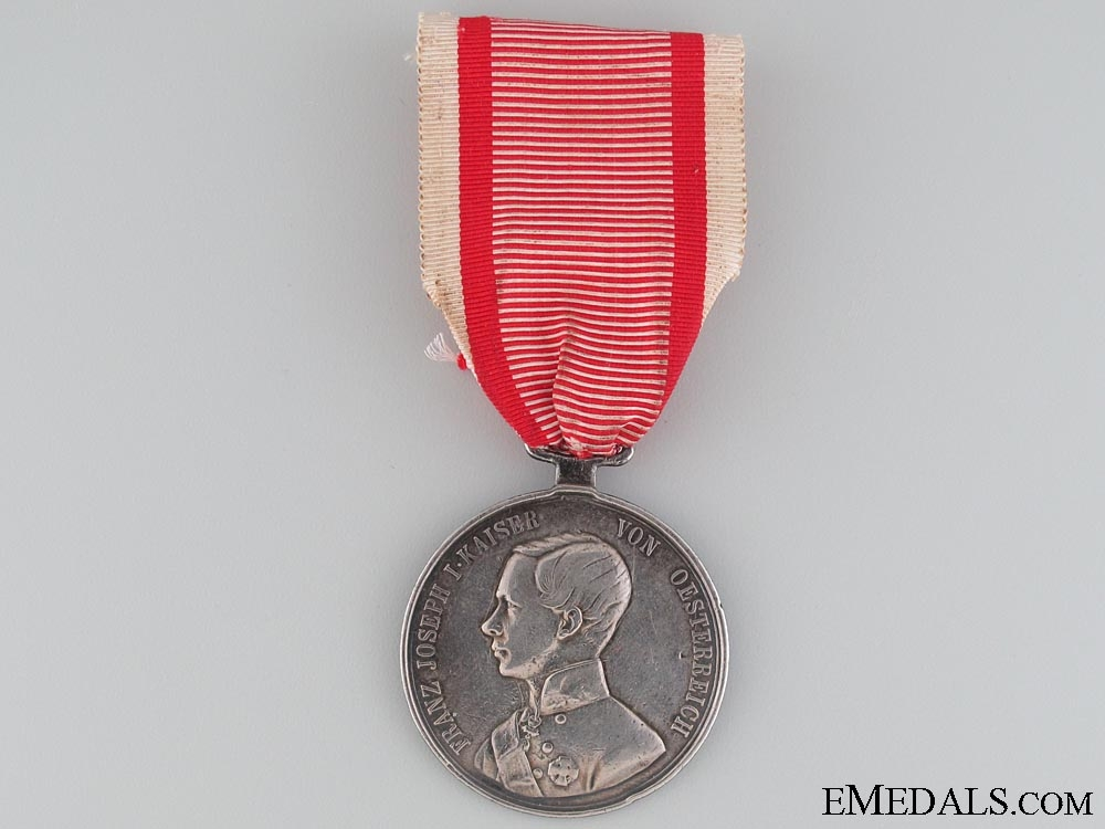 eMedals-Silver Bravery Medal 1st. Cl. (1849-1859)
