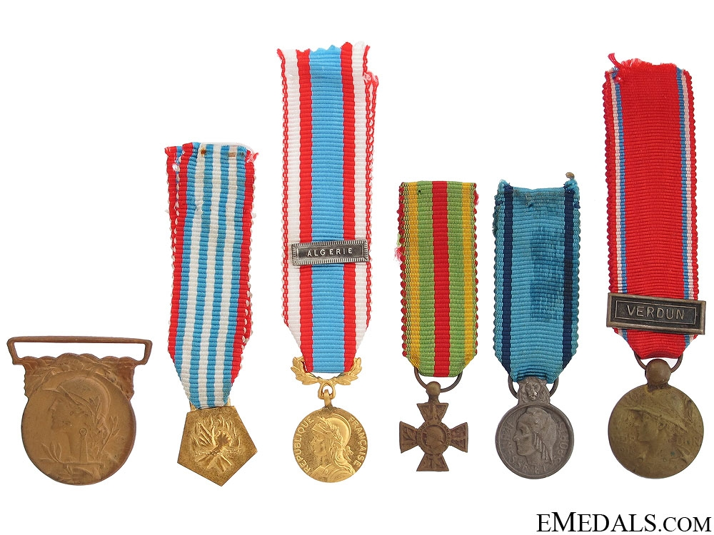 eMedals-Six Miniature French Medals