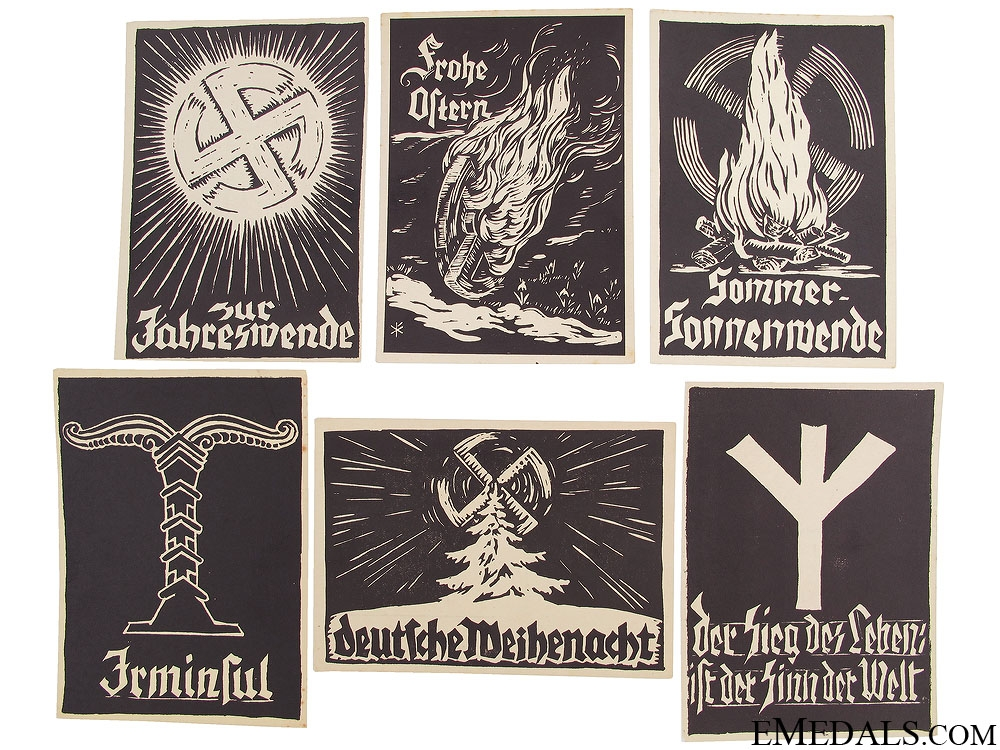 eMedals-Six WWII German Postcards