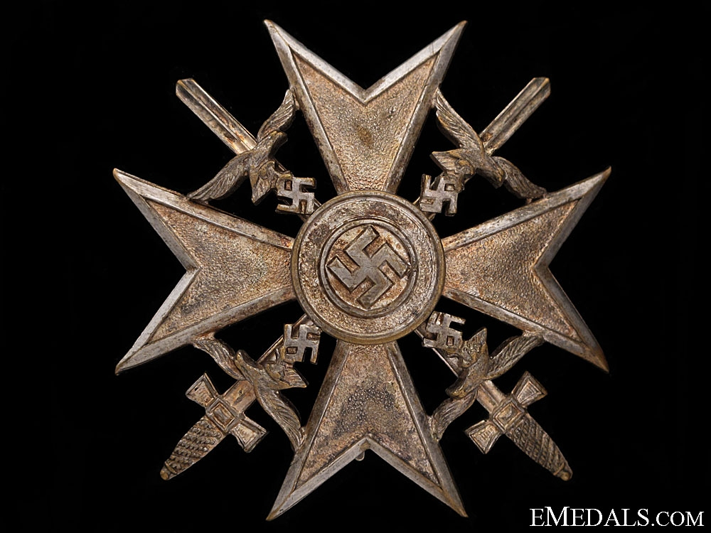 eMedals-Spanish Cross in Silver by Meybauer