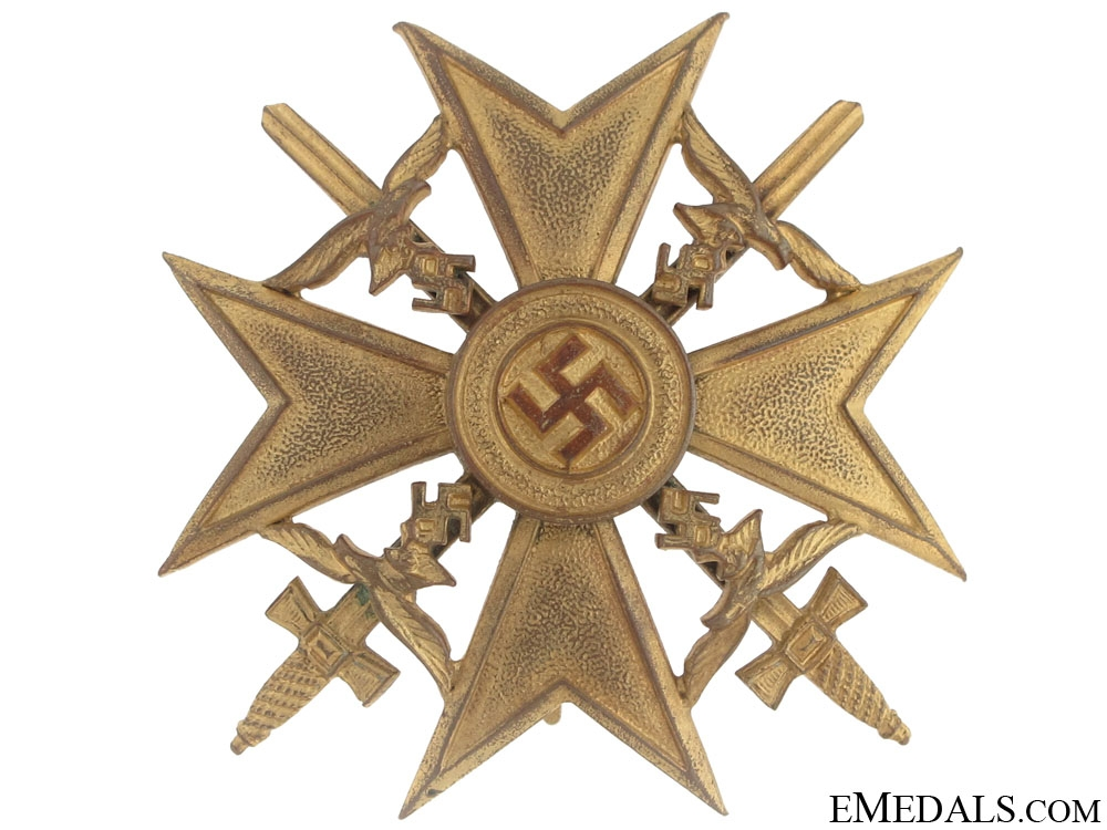 "eMedals-Spanish Cross with Swords, Gold Grade ""¢¤ L/13"