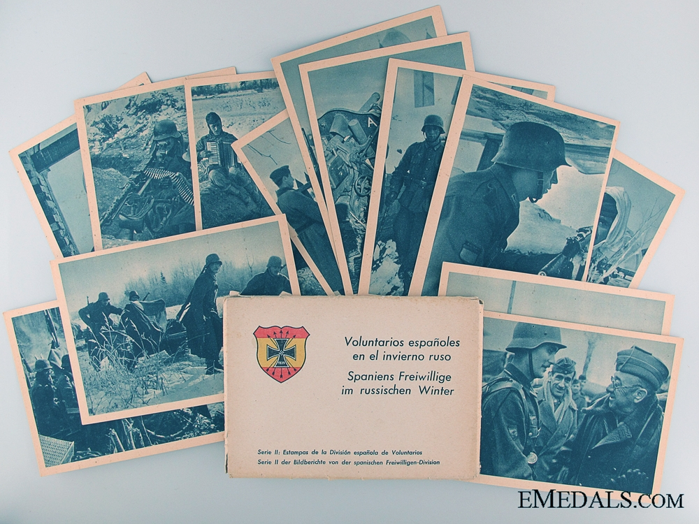 eMedals-Spanish Volunteer Division on Russian Front Postcards