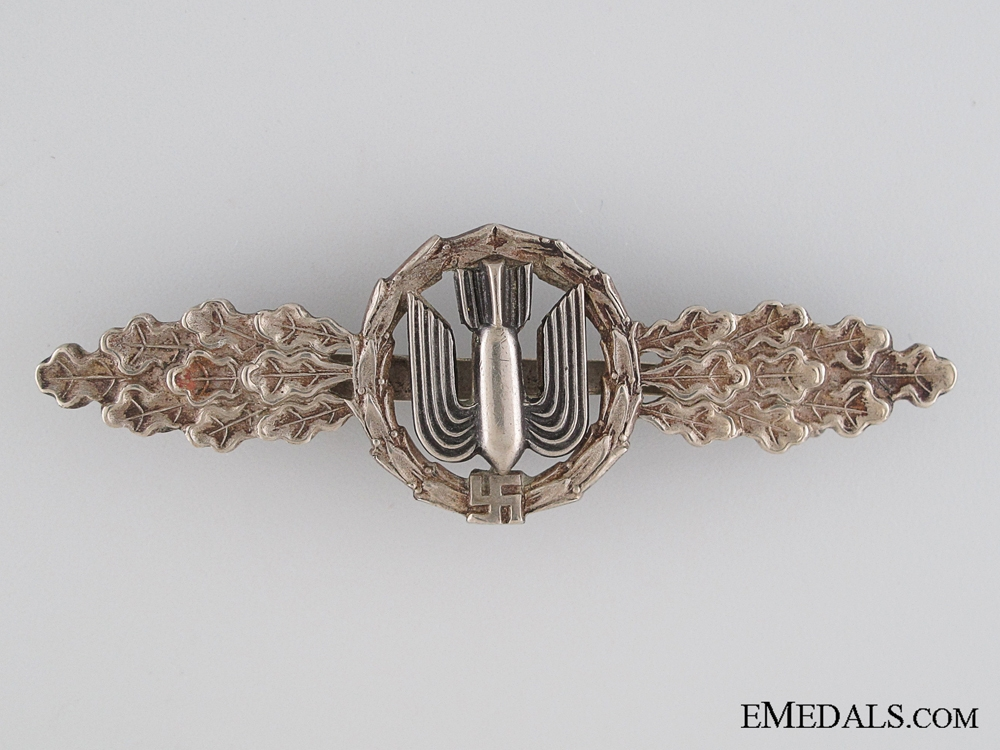 eMedals-Squadron Clasp for Bomber Pilots - Silver Grade