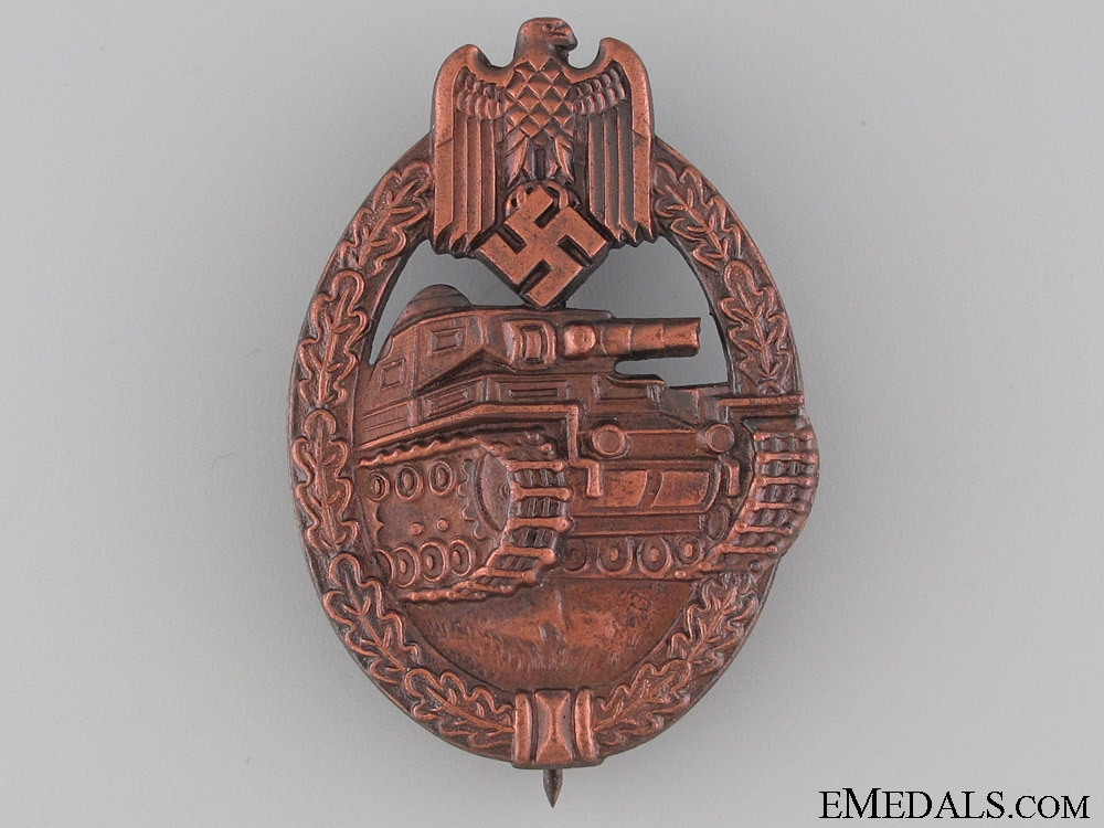 eMedals-Tank Badge - Bronze Grade by R.S.