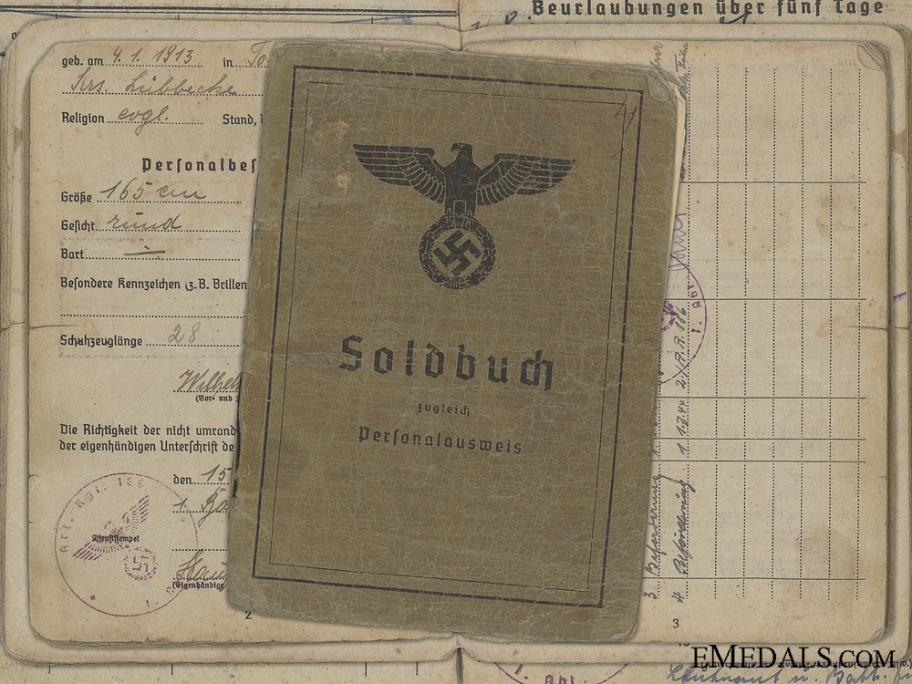 eMedals-The Army Soldbuch of Korke; Battle of Kursk