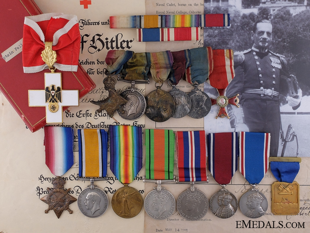 eMedals-The Awards of Lt.Fellows; Recipient of the German Red Cross Award