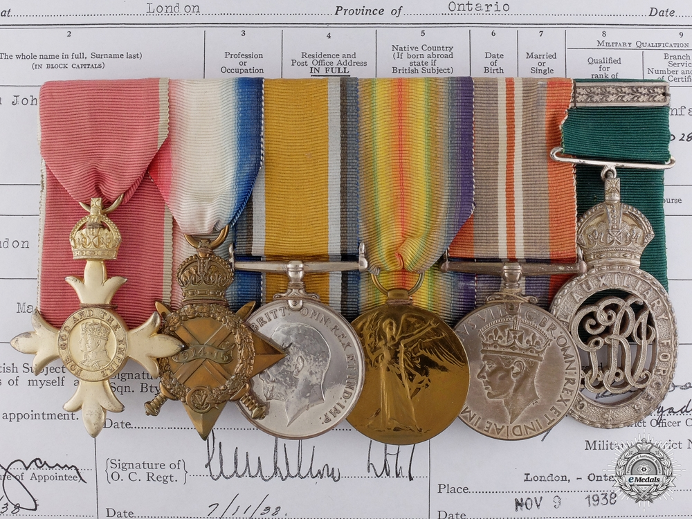 eMedals-The Awards of Major Ingram of the 18th Canadian Infantry CEF