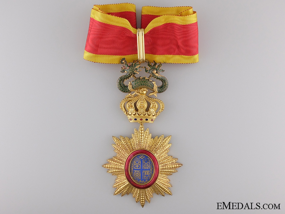 eMedals-A French Colonial Order of Dragon of Annam; Commander's Cross