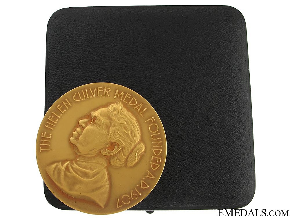 eMedals-The Geographic Society Helen Culver Gold Medal