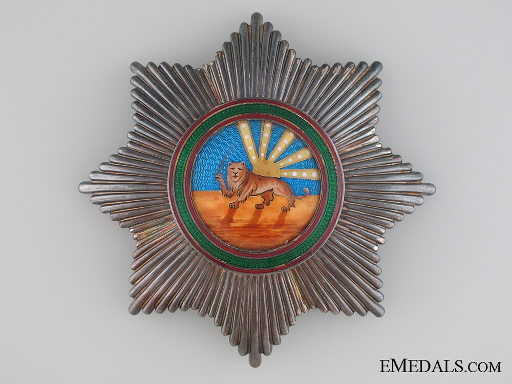eMedals-The Iranian Order of Homayoun; 1st Class Breast Star