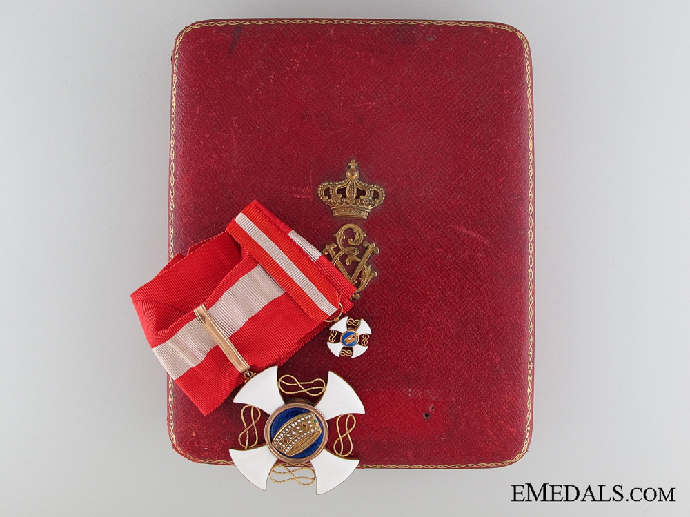 eMedals-The Italian Order of the Crown: Commander's Cross