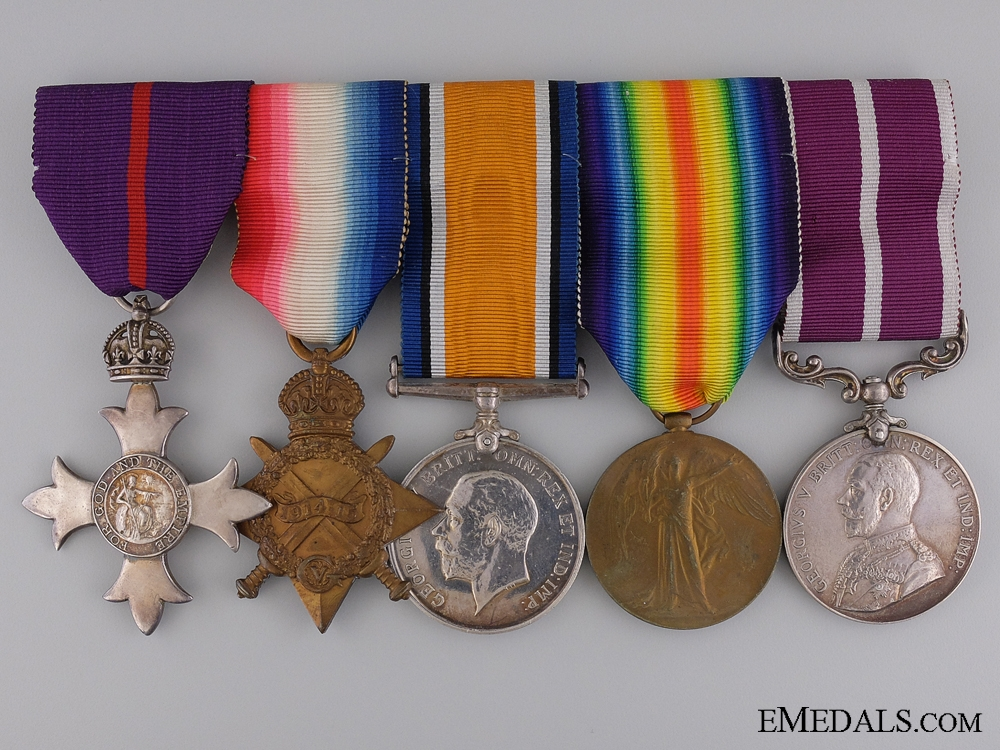 eMedals-The MBE & MSM to Captain Sydney Webb; 2nd Canadian Division