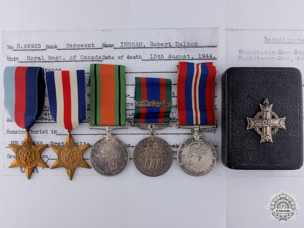 eMedals-The Memorial Group to Sg.t Ingram; Brothers at Dieppe