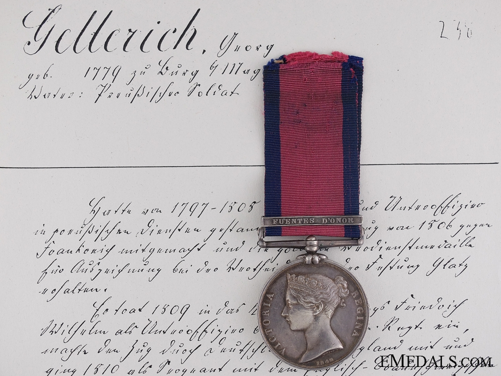 eMedals-The Military General Service Medal to Johann Georg Gellrich