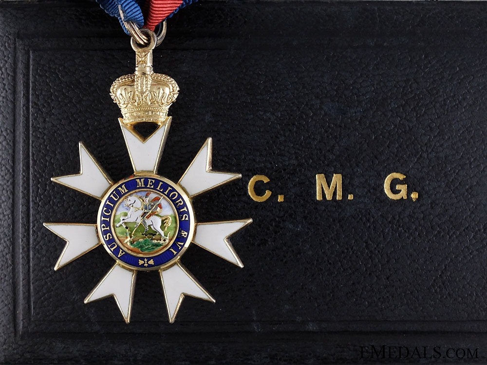 eMedals-The Most Distinguished Order of St. Michael and St. George; Neck Badge