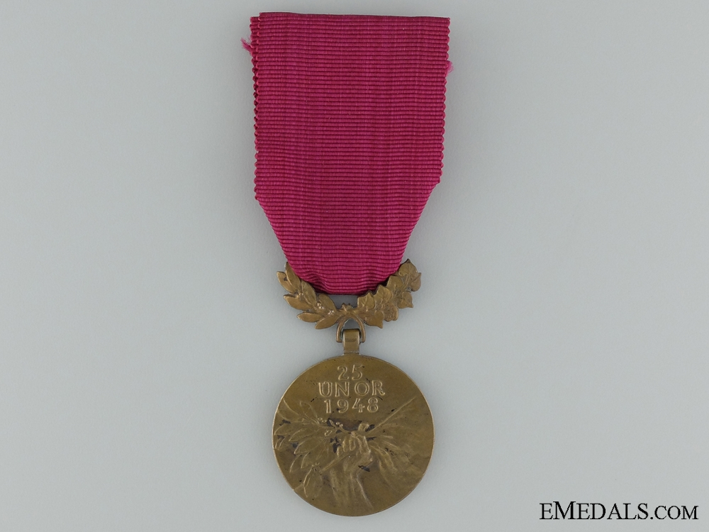 eMedals-The Order of 25 February 1948; Bronze Grade Medal