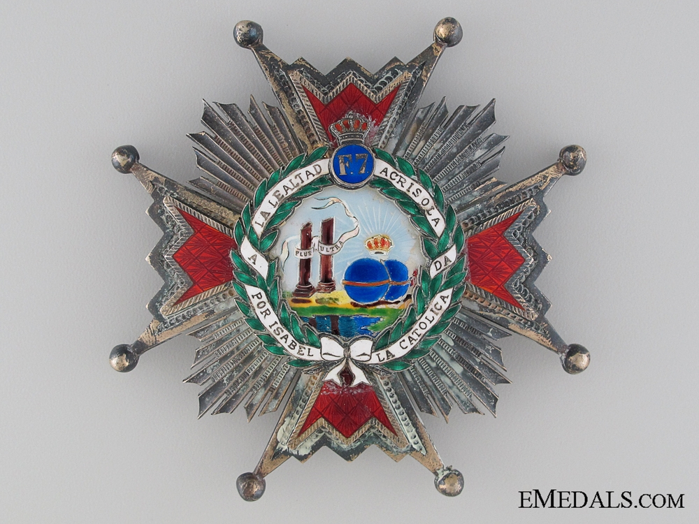 eMedals-The Order of Isabella the Catholic; Grand Cross Star