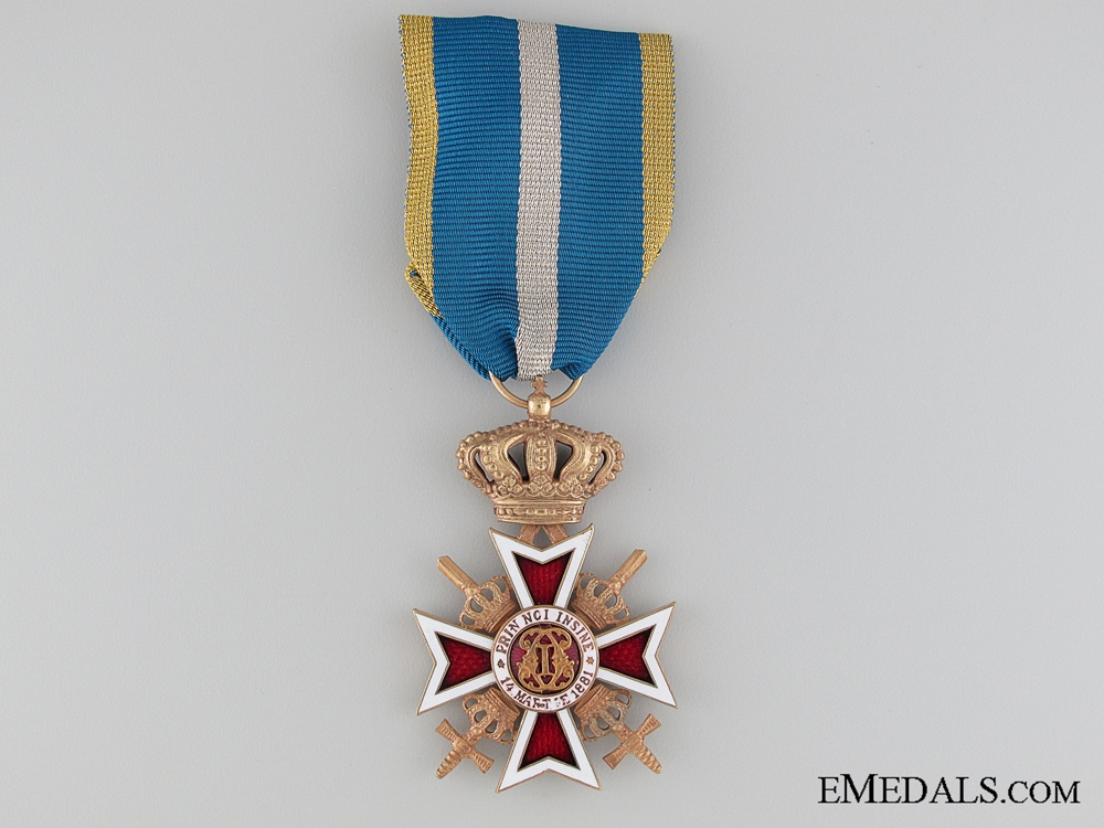 eMedals-The Order of the Crown of Romania with Swords;