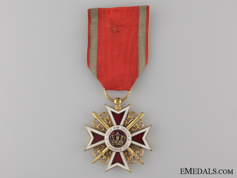 eMedals-The Order of the Crown of Romania with Swords; Officer 1881-1932
