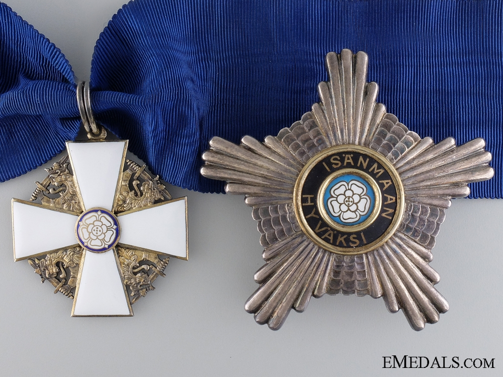 eMedals-The Order of the White Rose of Finland; Commander First Class