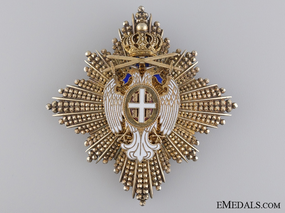 eMedals-The Order of White Eagle; Breast Star 2nd Class with Swords