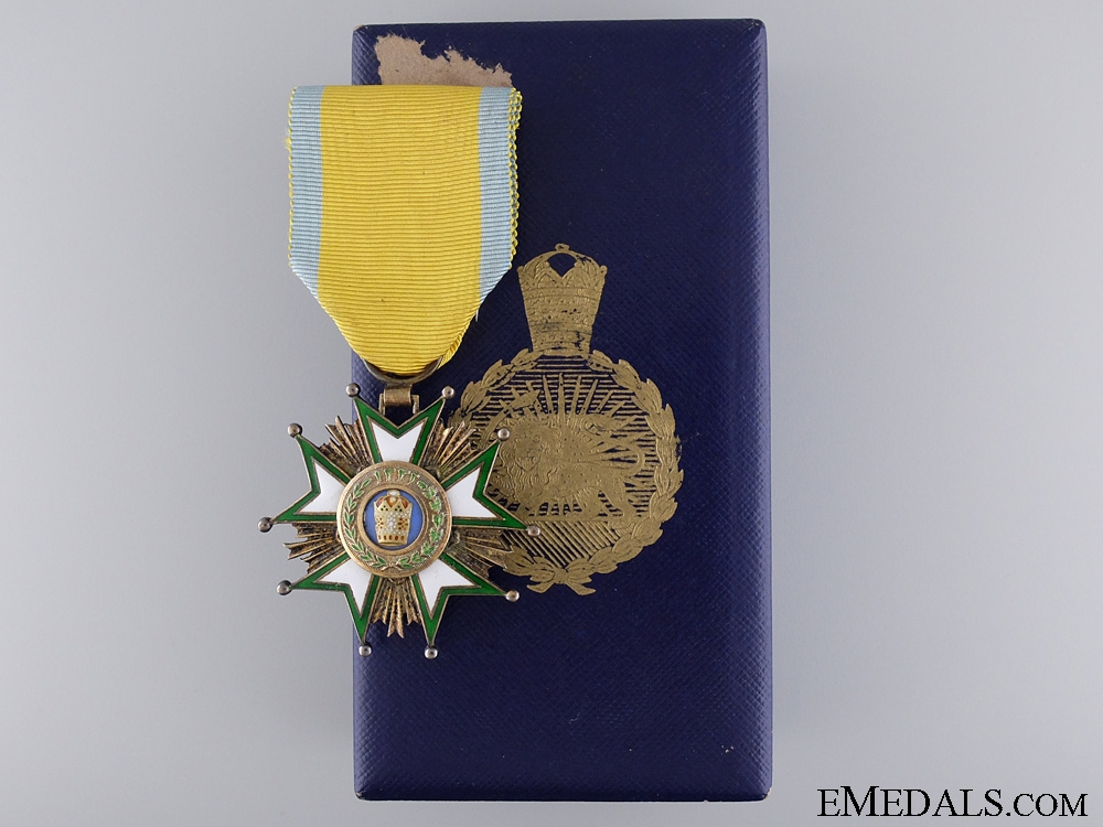 eMedals-The Pahlavi Empire Order of the Crown of Iran; Knight