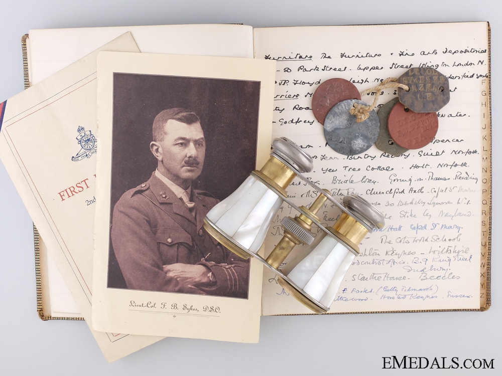 eMedals-The Personal Wartime Correspondence of Lieut-Col F.B. Sykes DSO NZFA