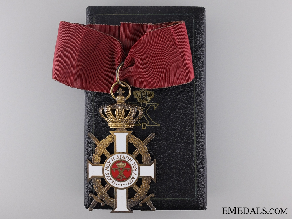 eMedals-The Royal Greek Order of George I; 3rd Class with Case by Kelaidis, Athens