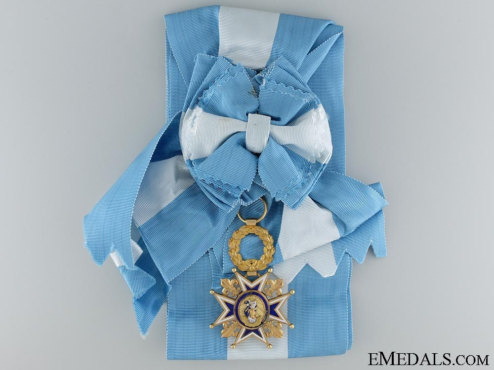 eMedals-The Royal Order of Charles III in Gold 1847-1868; Grand Cross