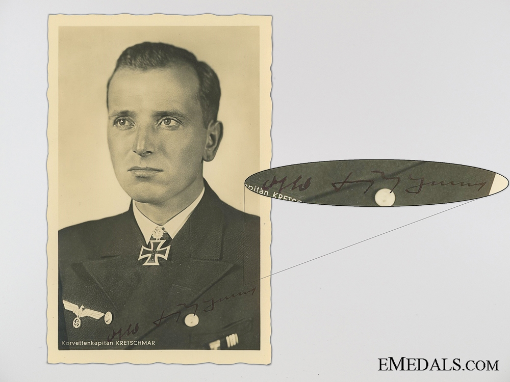 """eMedals-The Wartime Signature of """"Silent Otto"""" Otto Kretschmar"""