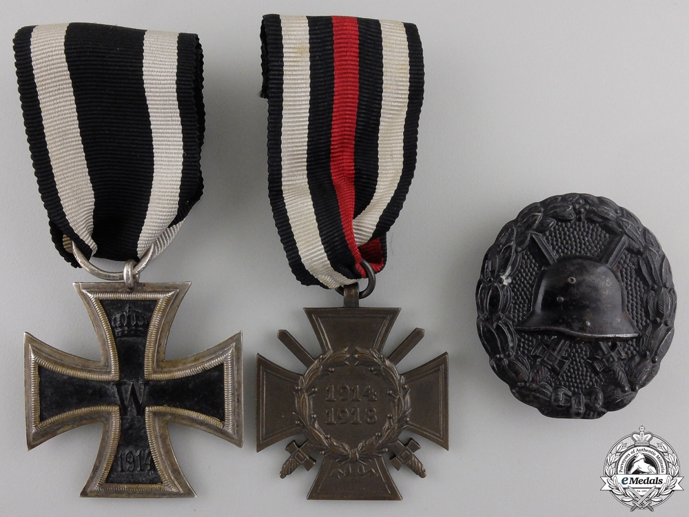 eMedals-Three First War German Imperial Awards & Badges