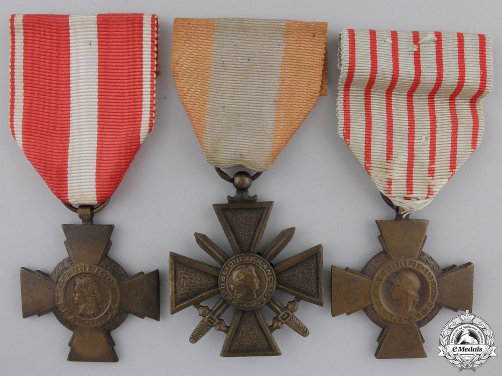 eMedals-Three French Military Crosses