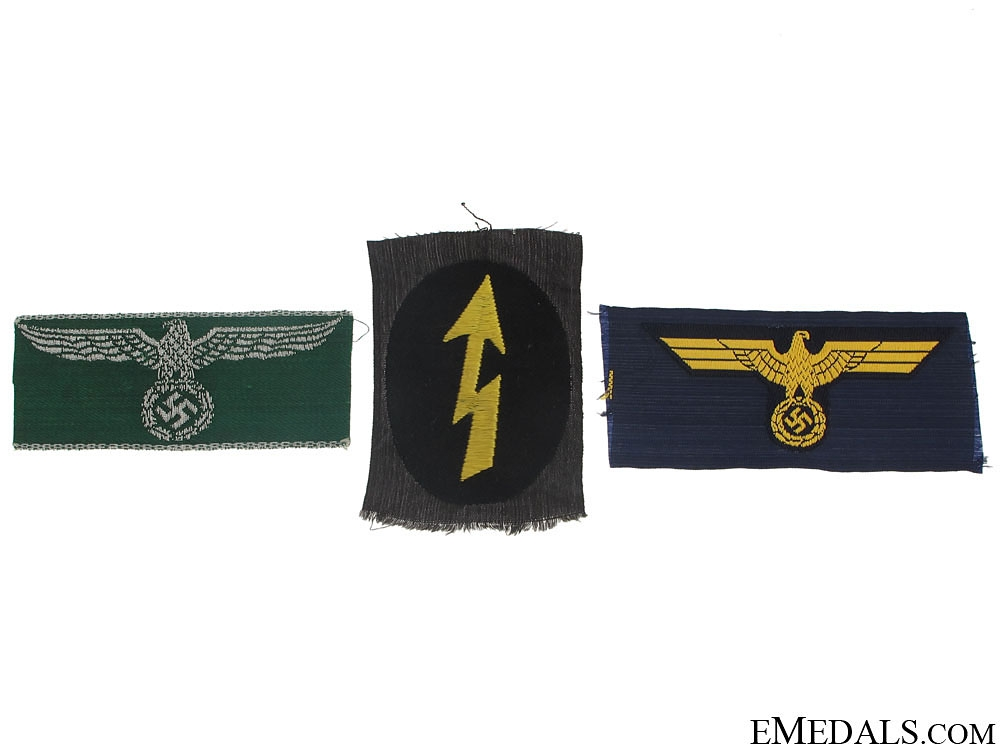 eMedals-Three German Cloth Insignia