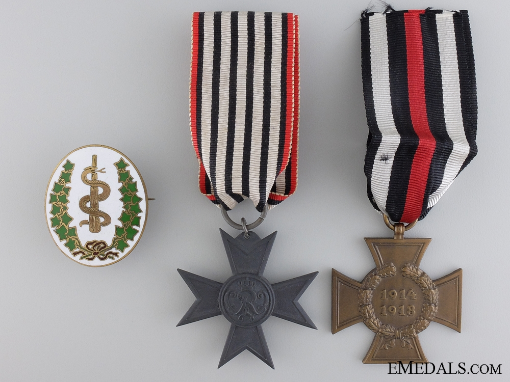 eMedals-Three German Imperial Awards & Badges