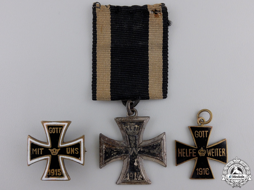eMedals-Three Iron Cross 1914 Badges and Pins