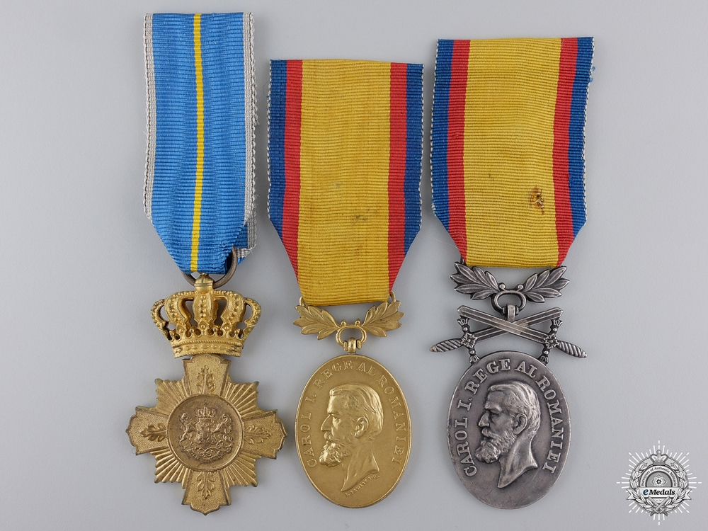eMedals-Three Romanian Medals & Awards