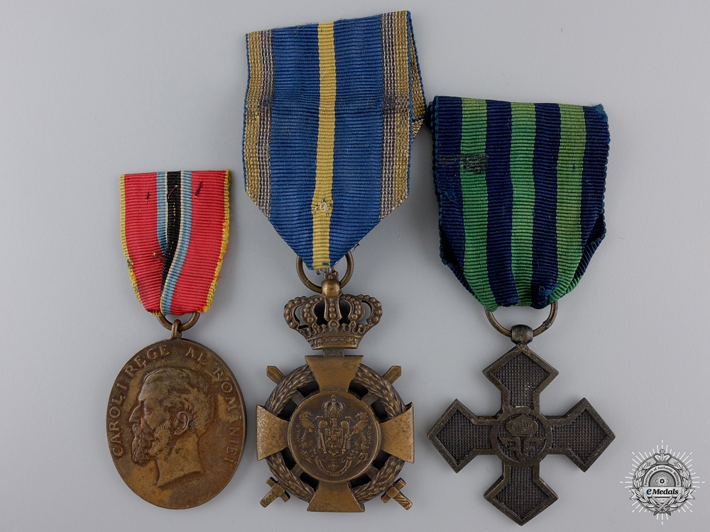 eMedals-Three Romanian Medals and Awards