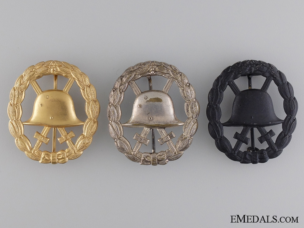 eMedals-Three WWI Imperial German Wound Badges